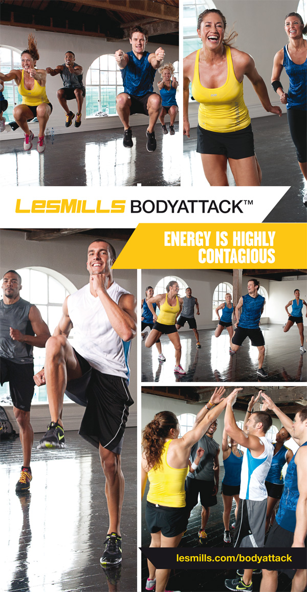 Body Attack flyer sportschool